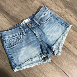 Abercrombie and Fitch fringe jean shorts size 0